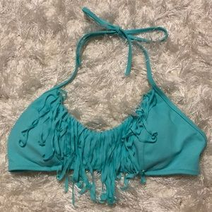 Victoria's Secret Teal swimsuit top with tassels